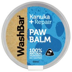 Paw Balm for Dogs by Washbar Dry Dog Paws, Copaiba Oil, Dog Spa, Dog Cleaning, Dog Shampoo, Gifts For Pet Lovers, Organic Oil, Pure Essential Oils, Spa Day