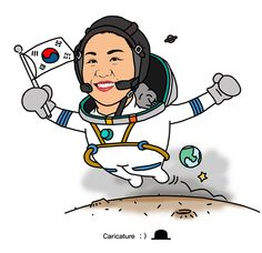 """이소연(李素姸[1], 1978년 6월 2일/음력 4월 27일 ~ ) 2008년 4월, 대한민국 최초로 우주 비행 참가자.    광주광역시 출신으로, 아버지 이길수와 어머니 정금순의 1남 2녀 중 첫째이다. 광주송원초등학교, 광주과학고등학교, 한국과학기술원(KAIST) 기계공학과 및 동 대학원을 졸업하였다. 2008년 3월에는 바이오시스템 박사 학위.  박우철의 """"꿈과 희망을 주는 캐리커처"""" (여러분의 장래를 좌우하는 요인은 여러가지가 있지만, 그 중 가장 중요한 것은 바로 여러분 자신이다. - 프랭커 타이거)"""