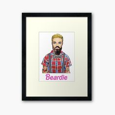 ' Framed Print by loveplasticpam Hipster Art, Ken Doll, Gay Art, Centerpiece Decorations, Off Colour, Custom Boxes, Box Frames, Top Artists, Framed Art Prints