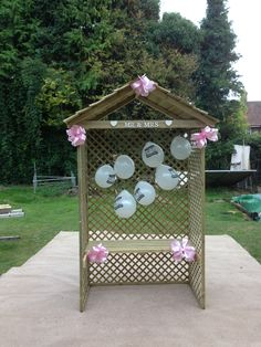 Made this love shack for a friends wedding present :)
