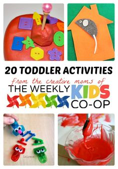 20 Fun #Toddler Activities from The Weekly #Kids Co-Op