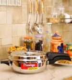 Buy Prestige Deluxe Plus Stainless Steel Senior Pressure Pan with Lid by Prestige online from Pepperfry. ✓Exclusive Offers ✓Free Shipping ✓EMI Available