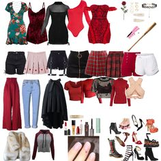 Like my look? Pll Outfits, Friend Outfits, Edgy Outfits, Winter Fashion Outfits, Cute Outfits, Cherry Blossom Outfit, Cheryl Blossom Aesthetic, Study Outfit, Cheryl Blossom Riverdale