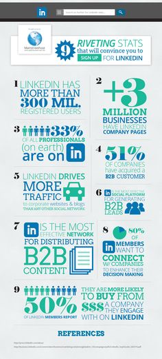 9 riveting stats that will convince you to sign up for LinkedIn - #SocialMedia #LinkedIn #Infographic
