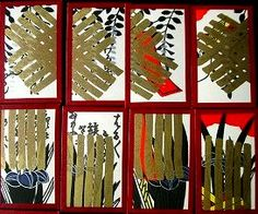Japanese playing cards with twelve flower suits つまり花札。それの地方版、「越後札」です。 濃金と言われるタイプ、金装が濃すぎて藤と菖蒲の札が荒れ狂ってます。猪は箒のよう、道風は傘にすっぽり裸足で逃げ出す。