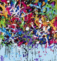 Missed Communication, acrylique et encre sur toile, 100 x 105 cm, 2016