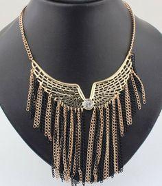 Trendy Women Tassels Choker Necklaces - Sooo cool...I'd rock that choker!!