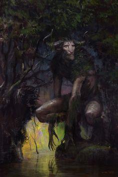 The Horned Guardian, Cristi Balanescu on ArtStation at https://www.artstation.com/artwork/bJ2Yv