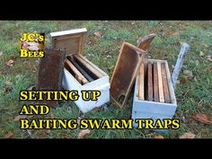Setting Up And Baiting Swarm Traps / How To Catch Honeybees Honey Bee Swarm, Honey Bees, Backyard Beekeeping, Beekeeping Course, Bee Hive Plans, Raising Bees, Bee Boxes, Bee Farm, What To Use