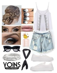 """""""YOINS Black and white summer"""" by snowflakeunique ❤ liked on Polyvore featuring Kate Spade, contestentry, yoins and yoinscollection"""