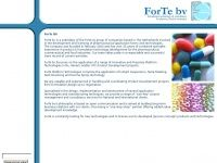Forte BV - formulating technology & consultancy for pharma, food and cosmetics
