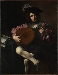 The Lute Player  Valentin de Boulogne  (French, 1591–1632)  Date: ca. 1626 Medium: Oil on canvas Dimensions: 50 1/2 x 39 in. (128.3 x 99.1 cm) Classification: Paintings Credit Line: Purchase, Walter and Leonore Annenberg Acquisitions Endowment Fund; funds from various donors; Acquisitions Fund; James and Diane Burke and Mr. and Mrs. Mark Fisch Gifts; Louis V. Bell, Harris Brisbane Dick, Fletcher, and Rogers Funds and Joseph Pulitzer Bequest, 2008 Accession Number: 2008.459