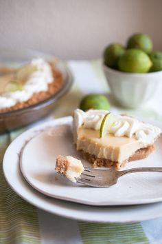 Easy homemade Key Lime Pie with gluten free graham cracker crust.