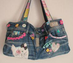 Jean reciclado bolsos 5