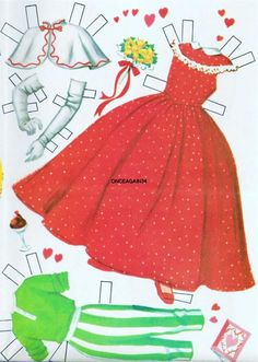 1956 Annette Funicello paper doll clothes / eBay
