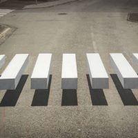 Оптическая иллюзия в исландском городке