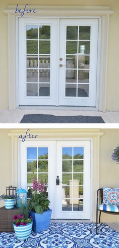By simply updating accessories and door hardware, this entry makes an impact in a big way!