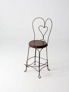 vintage ice cream parlor chair tall stool