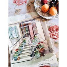 88 отметок «Нравится», 22 комментариев — Марина (@malinaklubnikina) в Instagram: «Маленькая живописная Флорина навсегда останется в моей памяти 🌸 #Греция #Флорина #акварель #art…»