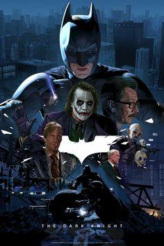Bottleneck Gallery's 'The Dark Knight' Poster by Juan Carlos Ruiz Burgos is the Hero Gotham Needs Joker Dark Knight, The Dark Knight Poster, The Dark Knight Trilogy, Knight Art, The Dark Knight Rises, Posters Batman, Batman Film, Batman Artwork, Batman Christian Bale