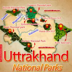National parks in Uttarakhand Christmas Wreaths, National Parks, Holiday Decor