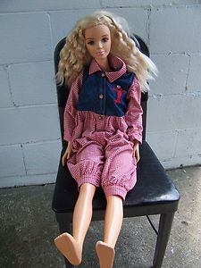 Mattel My Size Barbie Doll Blonde Hair Vintage 1992 Life Size 3 Ft ...