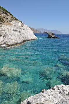 Armorgos, Greek Islands. Stunning turquoise blue water