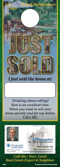 ReaMark Real Estate Door Hanger - Get noticed in your neighborhood #realestate
