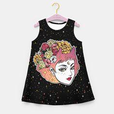 Floral Venus Girl's Summer Dress