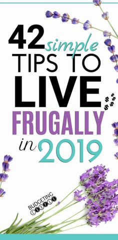 Start easily living frugally and saving money in 2019! These practical and simple frugal tips will help you save money every month without feeling cheap! Even if you're a frugal living beginner, you can start to live a simple minimalist lifestyle while saving money for the future! Budgeting Couple | Budgeting Couple Blog | BudgetingCouple.com #budgetingcouple #frugal #frugalliving