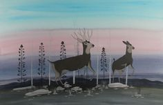 $325 Untitled (Winter Morning Foray), Paintings by Jimmy Toddy Jr.