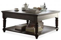 Belmeade Square Lift-Top Cocktail Table | Riverside | Home Gallery Stores
