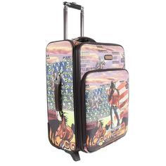 Travel with ease and in style with the Nicole Lee 22-inch expandable rolling carry-on with front laptop compartment. Expandable up to 2 inches for extra storage room, this suitcase features a retracta
