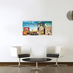 DALÌ - Banlieau de la ville paranoiaque aprés-midi sur la lisiére de l'histoire européenne 95x45 cm #artprints #interior #design #art #print #iloveart #followart #artist #fineart #artwit  Scopri Descrizione e Prezzo http://www.artopweb.com/autori/salvador-dali/EC21640
