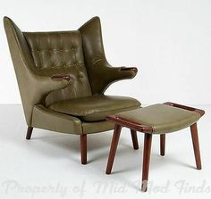 Hans J Wegner Papa Bear Style Lounge Chair