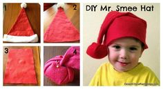 Make your own DIY Mr. Smee hat by modifying a Santa hat. The perfect companion costume for Peter Pan fans at Halloween.