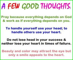 A FEW GOOD THOUGHTS.