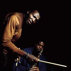"shaftsbigscore: ""Elvin Jones & George Coleman by Francis Wolff "" Two giants! Jazz Artists, Jazz Musicians, Francis Wolff, A Love Supreme, Jazz Players, Free Jazz, Kind Of Blue, Cool Jazz, Jazz Club"
