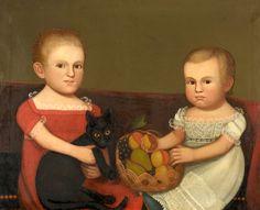 Portrait of the Farley Children of Groton, 1835, Zedekiah Belknap