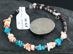 $80 Retail Tag Authentic Navajo SLEEPING BEAUTY Turquoise and Heishi Native American WRAP Bracelet. Native-Bay has the largest online selection of Authentic ONLY Native American Jewelry. All stones used are Natural and hand-picked by the Native American artist. NEW condition with retail tag still attached. You will receive what you see in pictures, if the item is a pendant and it is photographed with a chain attached, you will receive the chain as well. Rings can be resized to any desired…