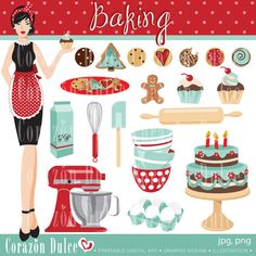 INSTANT DOWNLOAD Baking Personal and Commercial Use Clip Art:Originals design elements