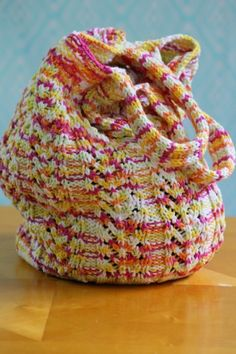 Chevron Bag - our Top 10 Free Knitted Bag Patterns - find them all on the Let's Knit blog!