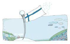 Lippu, jonka sydän lepatti - satu suomenlipusta. Early Education, Early Childhood Education, Finnish Independence Day, Finland, Preschool, Baby Boy, Arts And Crafts, Blue And White, Classroom