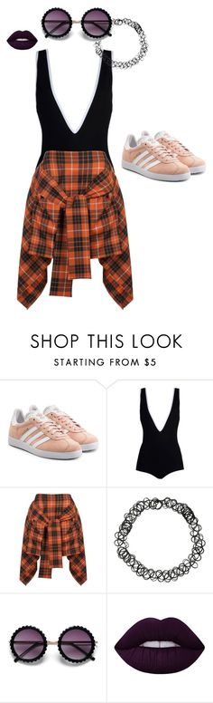 """""""Sunset Blvd"""" by ashyrosepetal on Polyvore featuring adidas Originals, Givenchy, Vivienne Westwood Anglomania and Lime Crime"""