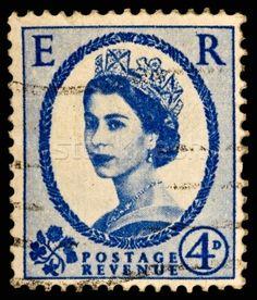 Price of Vintage Postage Stamps | Stock photo - Vintage UK postage stamp © Alexandr Blinov (blinow61 ...