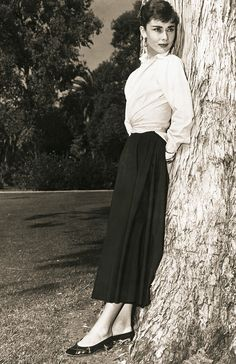 Midi skirt - How to Master Audrey Hepburn's Style (and Still Look Completely Modern) via @WhoWhatWearUK