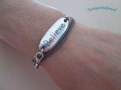 Leather Bracelet, UNISEX, Boho wrap bracelet, Personalized Cuff bracelet, Men's bracelet by TurquoiseJewel on Etsy