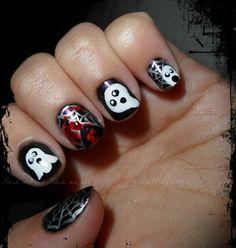 50 Simple Easy Spooky  Scary Halloween Nail Art Designs Ideas 2012  Family Holiday
