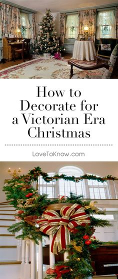 Decorating for a Victorian era Christmas is a way to incorporate antique decorations along with vintage flair for the holidays. Many Christmas traditions popular today arose during Queen Victoria and Prince Albert's reign over England in the The Vic Victorian Christmas Decorations, Victorian Christmas Tree, Old Time Christmas, Victorian Decor, Christmas Love, Victorian Era, Vintage Christmas, Christmas Holidays, Christmas Crafts