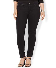 Lauren Jeans Co. Plus Size Super-Stretch Skinny Jeans - Jeans - Plus Sizes - Macy's